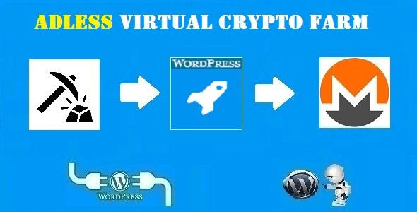 Adless Virtual Crypto Farm Plugin for WordPress