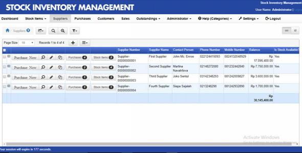 Advance Stock Management System | Inventory Management