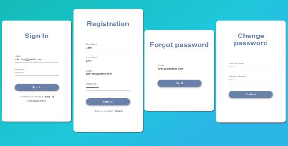 Angular - Login Forms Module - Simple Design