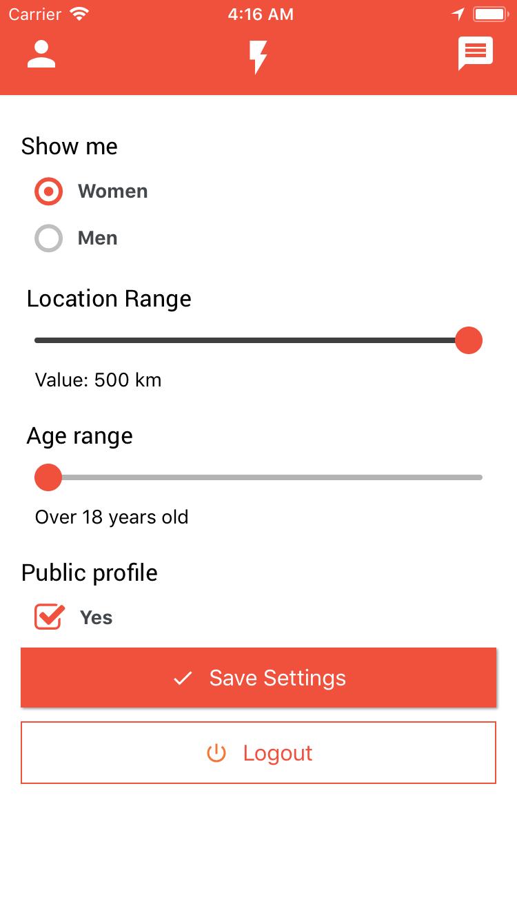 Binder React Native Dating App Template In Social Media Apps Alkanyx