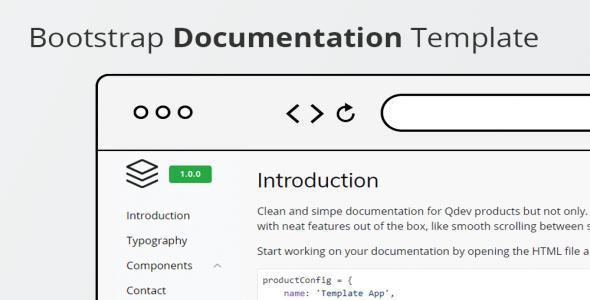 Bootstrap Documentation Template