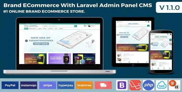 Brand Ecommerce Laravel With Admin Panel CMS