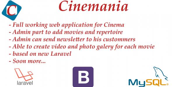 Cinemania - web presentation for cinema