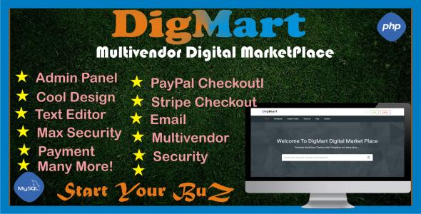 DigMart - Multivendor Digital MarketPlace