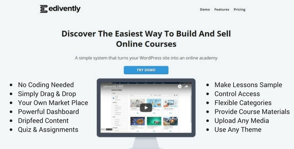 Edivently WordPress Learning Management System