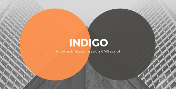 Indigo – Architect, Interior Design Agency CMS Script
