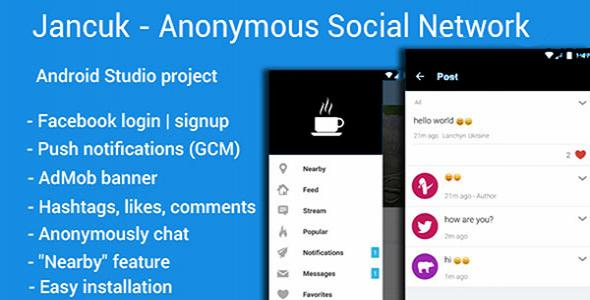 Jancuk - Anonymous Social Network Android in social media apps | Alkanyx