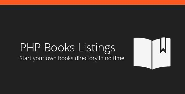 PHP Books Listings Web App Template