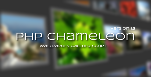 PHP Chameleon - Wallpapers platform web app template