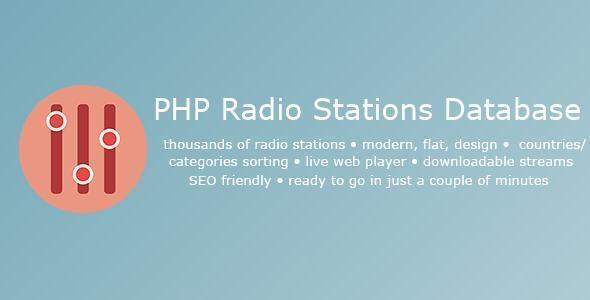 PHP Radio Database - Online radio streaming platform
