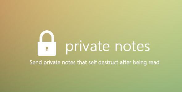 Private Notes - ReactJS & Laravel based web app template