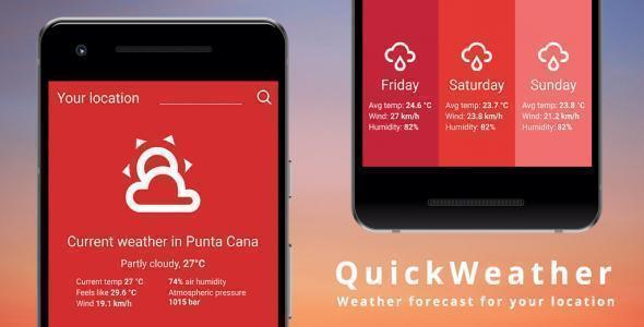 Quick Weather - Minimalist Weather App Template