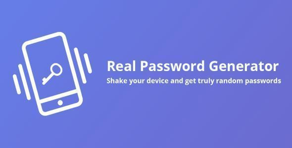Real Password Generator - React Native app template