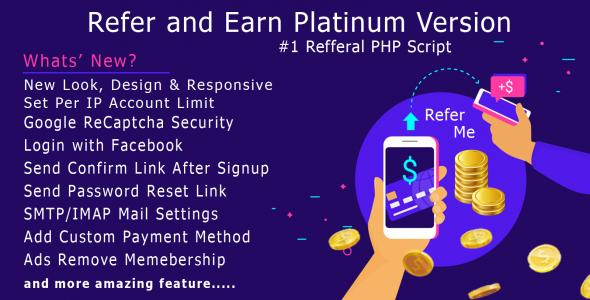 Refer and Earn Platinum PHP Script