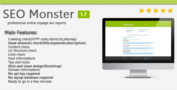 SEO Monster - OnPage SEO Raporting Script