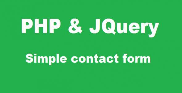 Simple PHP And jQuery Contact Form