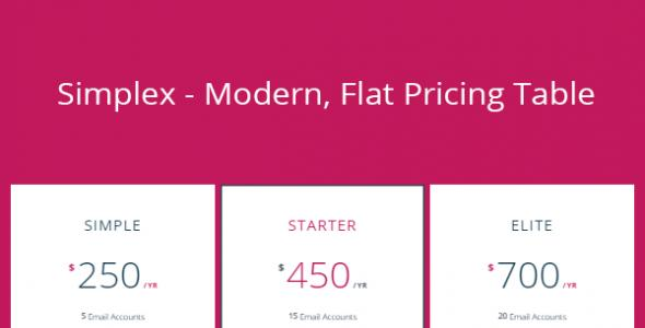 Simplex - CSS3 Monthly & Yearly Pricing tables
