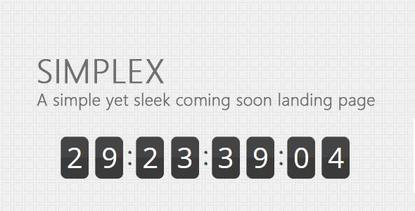 Simplex - Simple coming soon landing page