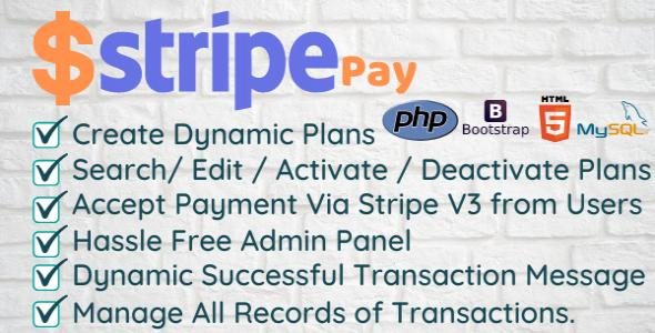 Stripe Pay - Create Dynamic Plan and Accept Payment