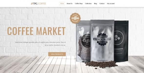 TPG Coffee Beverage Website template
