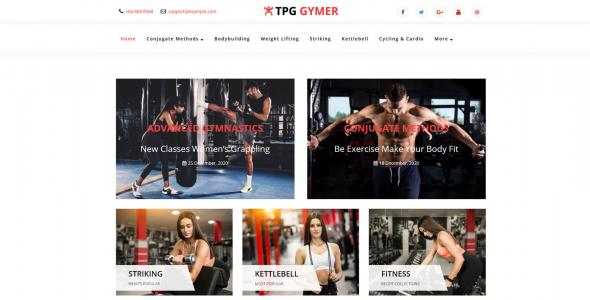 TPG Gymer WordPress Fitness theme