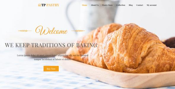 TPG Pastry Bakery wordpress theme
