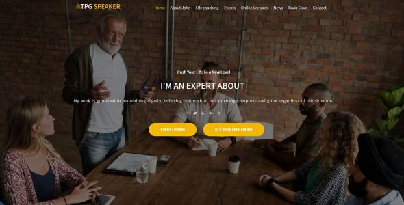 TPG Speaker Event  Conference WordPress theme