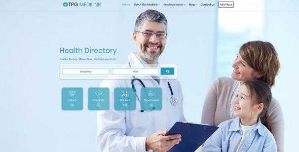 TPG Technet Hospital WordPress theme