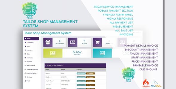 Tailor Shop Management System