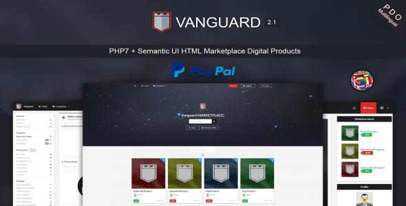 Vanguard - Marketplace Digital Products PHP7
