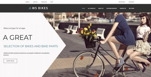 WS Bikes Responsive Bike Shop Woocommerce WordPress theme