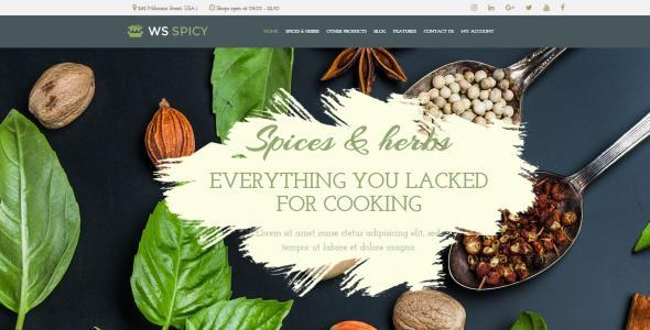 WS Spicy Responsive Spices Store WooCommerce WordPress theme