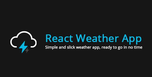 Weather Forecast App - ReactJS based web app template