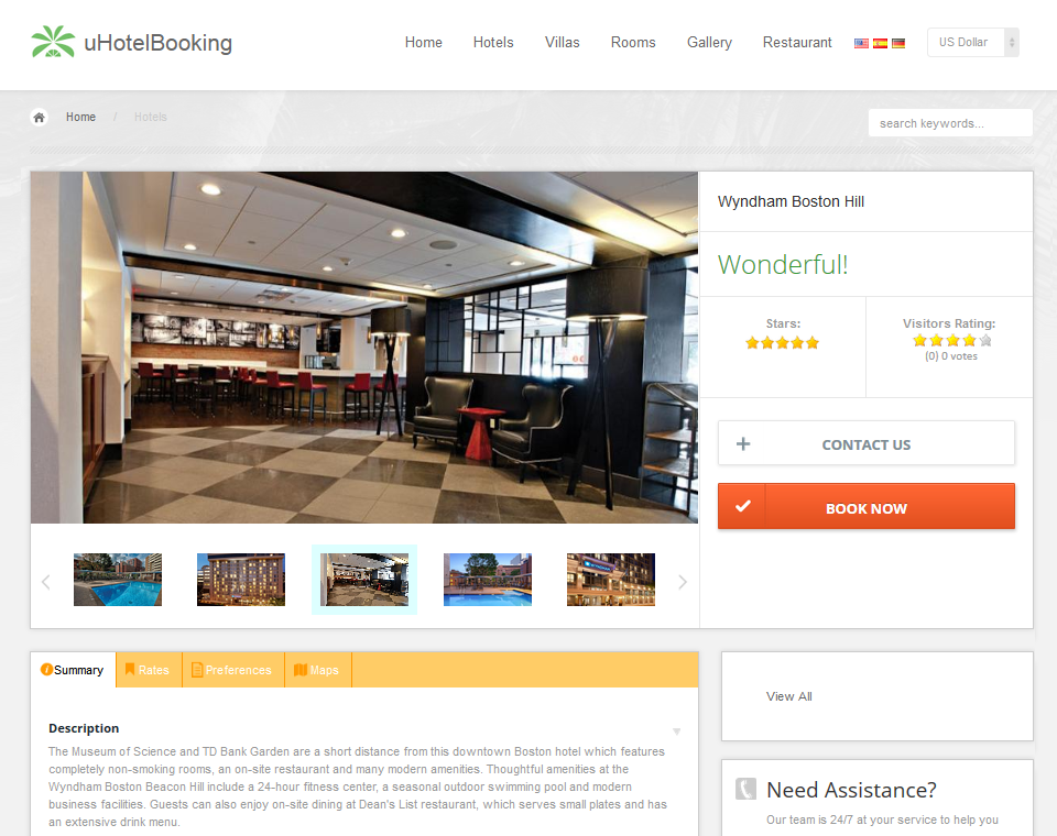 uHotelBooking - hotel reservation and booking system in e-commerce ...
