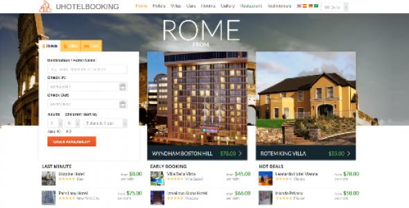 uHotelBooking - hotel reservation and booking system
